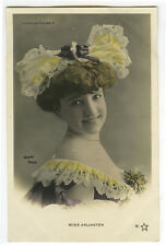 c 1904 MOULIN ROGUE Beauty Mlle ARLINGTON Cabaret Undivided back photo postcard