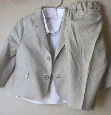 DOLCE AND GABBANA BABY BEIGE SHIRT AND SUIT 6-9 MONTHS