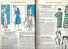 Vtg Mid Century COMPLETE BOOK OF SEWING Hats,Clothing,ACCESSORY,APRON,HOME DECOR