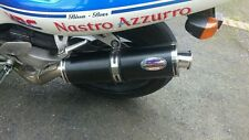 Honda RVF400 Stainless Black Round Road-legal MTC Exhaust