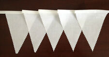 100 mtrs of White Fabric Material Bunting - Wedding,  Christening, Decoration,