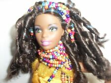 Black barbie doll,ethnic,west african,afro hair,traditional dress