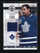 GRANT FUHR 2012/13 12/13 PANINI LIMITED GAME USED WORN JERSEY #40/99 AB6015