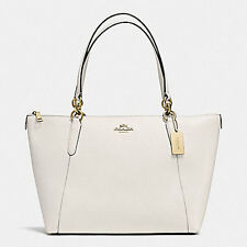 NWT GENUINE Coach AVA TOTE IN CROSSGRAIN LEATHER F57526 CHALK WHITE