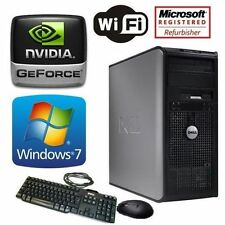DELL 780 FAST CORE 2 DUO WINDOWS 7 WIRELESS GAMING DESKTOP 16GB RAM 1TB HDMI PC