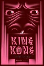 KING KONG ART DECO MOVIE POSTER STYLE B LARGE PINK LIMITED EDITION SCREEN PRINT