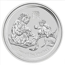 2016 Australia Lunar Year of Monkey 1 oz .999 Silver Bullion Coin