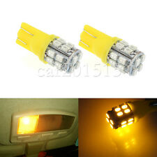 Pair T10 20SMD LED W5W 194 168 501 Car Auto Side Wedge Light  Bulb 12V Yellow