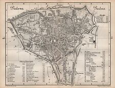 1877 BAEDEKER ANTIQUE TOWN PLAN-ITALY-PADUA