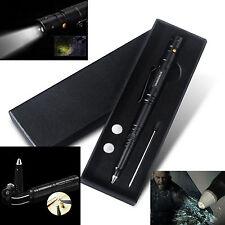 EDC PSK BLACK Tactical Pen Self-defense Survival Tool & LED Flashlight AB07.2K