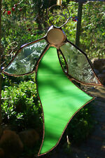 HEALING GREEN ANGEL suncatcher HAND CRAFTED QUALITY STAINED GLASS DECORATION