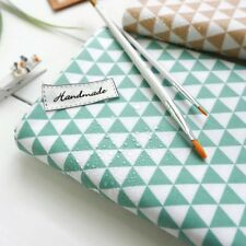 """Laminated Cotton Fabric 0.66""""(1.7cm) Mini Triangle Mint By The Yard"""