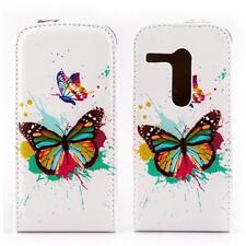 Handy Tasche Etui Flip Cover Für Motorola Moto G /X1032 Schmetterling Case Hülle