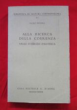 Nicosia RICERCA COERENZA Saggi Esegesi Dnatesca 1967 D'Anna