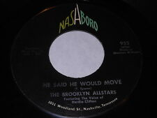 The Brooklyn Allstars: He Said He Would Move/Family Prayer 45 Black Gospel Soul