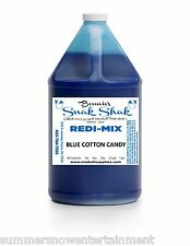 Snow Cone Syrup BLUE COTTON CANDY Flavor. 1 GALLON JUG Buy Direct Licensed MFG