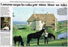 Coupure de presse Clipping 1990 (4 pages) Titouan Lamazou