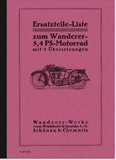 Wanderer 5,4 PS Ersatzteilliste Ersatzteilkatalog Motorrad Spare Parts Catalogue