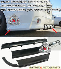 11-17 Toyota Sienna CityKruiser Rear Aprons + Diffuser (PU) [SE Model Only]