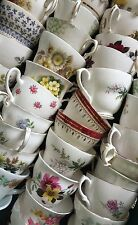 Job lot 15 Pretty Vintage Tea Cups - Ideal for use at Weddings