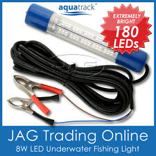 12V~24V 180 LED WHITE UNDERWATER FISHING BOAT LIGHT WATERPROOF -Fish/Squid/Prawn