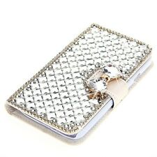 Luxury Bow Diamond Rhinestone Wallet Leather Case For iPhone 7 & Samsung Galaxy