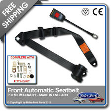 Ford Escort Mk1 1968-1974 Front Automatic Seatbelt Black