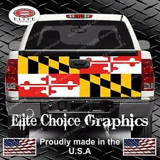 Maryland Flag Truck Tailgate Wrap Vinyl Graphic Decal Sticker Wrap