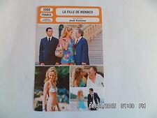 CARTE FICHE CINEMA 2008 LA FILLE DE MONACO Luchini Roschdy Zem Louise Bourgoin