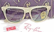 "RAY-BAN *NOS VINTAGE B&L *RARE WAYFARER II ""CRYSTAL FROST"" *NEW SUNGLASSES +CASE"