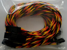 5 Pack: (5) 80CM Twisted 22awg Servo Extensions Lead JR / Hitec