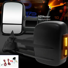88-98 Chevy C10 C1500 K1500 LED Turn Signal Towing Manual Folding Mirrors