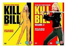 KILL BILL Volume 1 + 2 DVD Double 2 Movie Film Collection Part 1 and 2 New UK R2