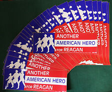 Lot of 25 Vintage '84 Reagan CAMPAIGN BUMPER STICKER Another American Hero
