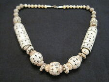 """Vintage 21"""" Carved Beaded Necklace ~ Heavy Weight"""