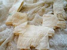 11 Embroidered Edwardian Lawn Dress Fronts Unused.