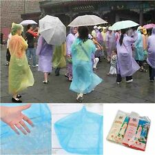 1Pc Emergency Gear Disposable Rain Coat Raincoat Poncho Survival Travel Hiking