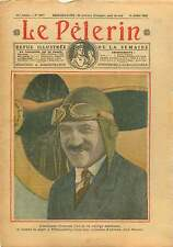 Portrait Aviateur Alfred Fronval loopings Villacoublay France 1928 ILLUSTRATION