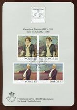 NORWAY 1982 PAINTINGS OSLO EXHIBITION MNH SHEET Special cancel cat EURO 25