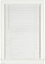 "WHITE 1"" SLATS VINYL MINI BLIND 35"" WIDE x 72"" LONG BLINDS"