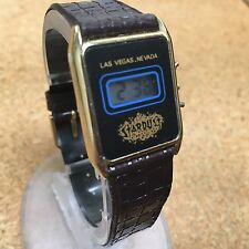 Vintage Stardust Las Vegas Lady Slim LCD Digital Quartz Watch Hour~New Battery