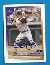 SCOTT HAIRSTON  Autograph 2005 TOPPS TOTAL  Auto Signed DIAMONDBACKS