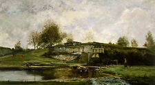 Sluice in the Optevoz Valley Charles-Francois Daubigny Frankreich B A3 01141