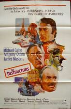 MARSEILLE CONTRACT THE DESTRUCTORS one sheet 27x41 movie poster MICHAEL CAINE