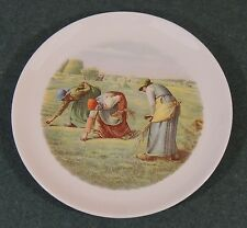 Crooksville China The Gleaners Jean Francois Millet Folk Art Paint Salad Plate