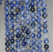 4MM BLUEBERRY SODALITE GEMSTONE BLUE ROUND LOOSE BEADS 15.5""