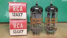 Pair of RCA 12AX7 ECC83 NOS NIB Long Gray Plate 1960 Vacuum Tubes