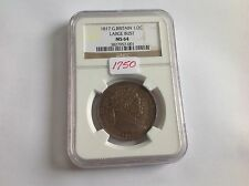 1817 Great Britain 1/2 Crown Large Bust MS 64 NGC Holder