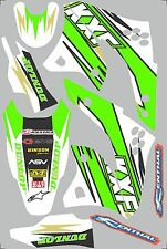 2006-2008 Kawasaki KX250f KX 250f Graphics Decal fender shrouds
