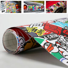 "60""x20"" Panda Cartoon Car JDM STICKER BOMB Graffiti Wrap SHEET HONDA DECAL"